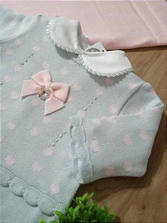 Saída Maternidade Corações Azul e Rosa