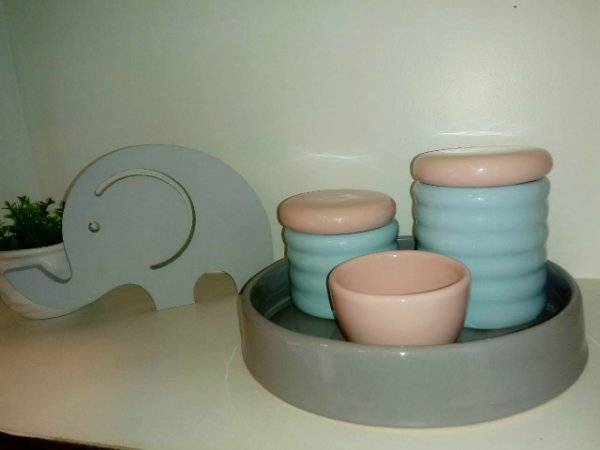 Kit Higiene Bebe Azul e Rosa