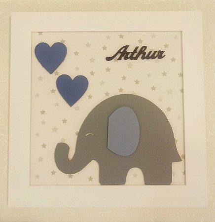 Porta Maternidade Elefante Corações Arthur
