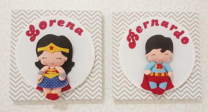 Porta Maternidade Super Heróis