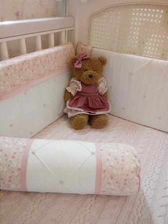 Kit Berço Rosa Bebê