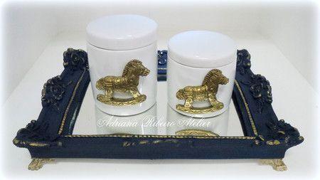 Kit Higiene Cavalinho Dourado