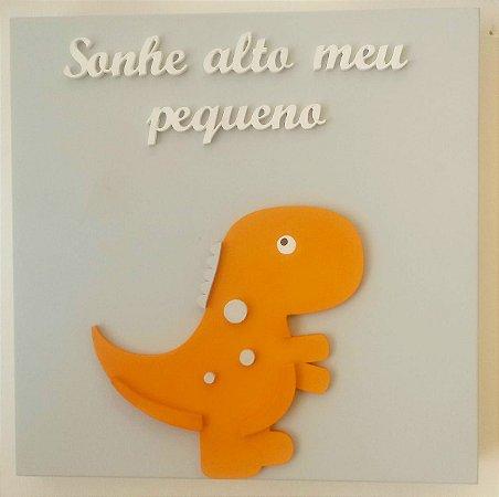 Quadro Dinossauro Frase