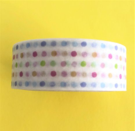 Washi Tape Poá Colorido