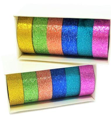 Kit Caixinha Washi Tape Brilho