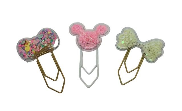 Clips Grande Aplique Laço/Mickey