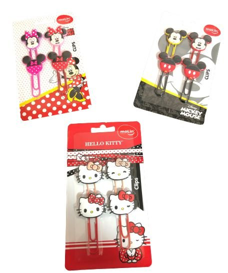 Clips Cartela Mickey/Minnie e Hello Kitty