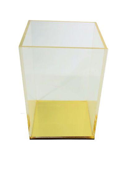 Porta Caneta Acrílico Fundo Espelhado
