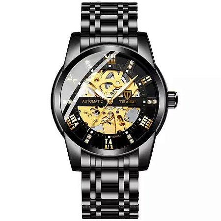 Relógio TEVISE Automático Mecânico Inox T9005