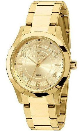 Relógio de Pulso Feminino Technos 2035MFT Ouro