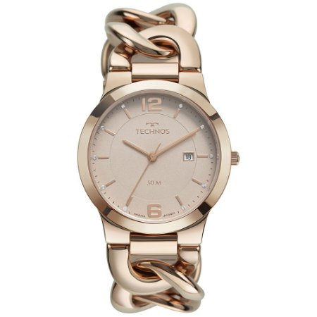 Relógio de Pulso Feminino Technos Elegance Ouro Rosé