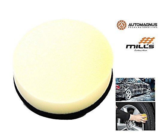 Espuma aplicadora amarela dupla face  -  Mills