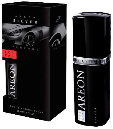 Aromatizante para Carro Areon For Car - Perfume 50ml - Vidro Preto -  Silver
