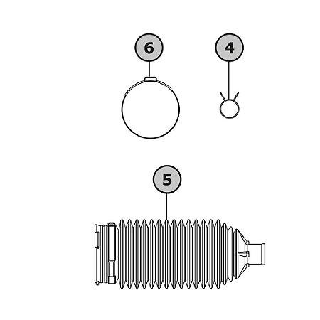 Kit coifas e abraçadeiras - GM Ágile 1.4 / Montana 1.4 / Celta /Classic / Corsa 1.0/1.6 2009 em diante - Jtekt