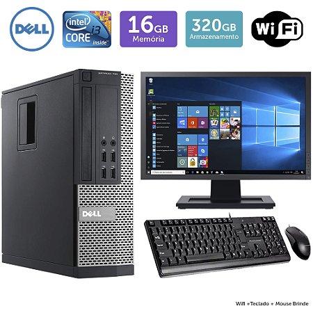 Desktop Usado Dell Optiplex 790Sff I3 16Gb 320Gb Mon19W