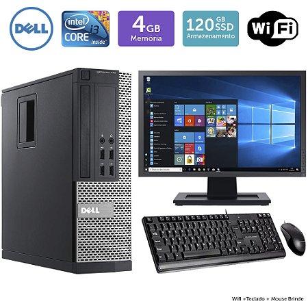 Desktop Usado Dell Optiplex 790Sff I3 4Gb Ssd120 Mon19W