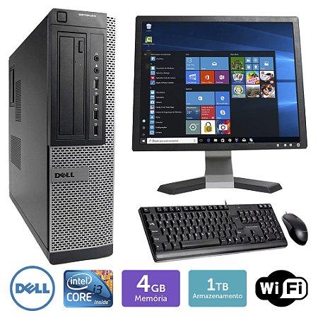 Desktop Usado Dell Optiplex 7010Int I3 4Gb 1Tb Mon17Q Brinde