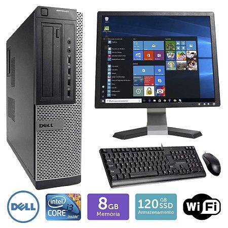 Desktop Usado Dell Optiplex 7010Int I3 8Gb Ssd120 Mon17Q