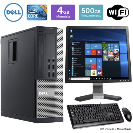 Desktop Usado Dell Optiplex 7020SFF i3 4GB 500GB Mon17Q