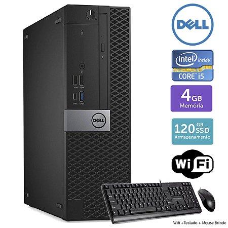 Desktop Usado Dell Optiplex 7050SFF i5 4GB SSD120 Brinde