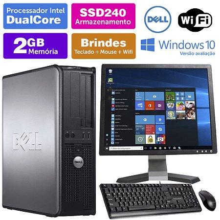 Desktop Usado Dell Optiplex INT Dcore 2GB DDR3 SSD240 Mon17Q
