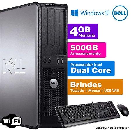 Desktop Usado Dell Optiplex INT Dcore 4GB DDR3 500GB Brinde