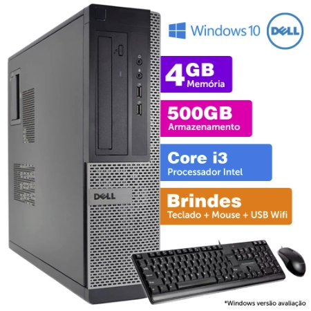 Desktop Usado Dell Optiplex INT i3 2G 4GB 500GB Brinde