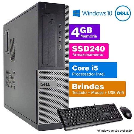 Desktop Usado Dell Optiplex INT i5 2G 4GB SSD240GB Brinde