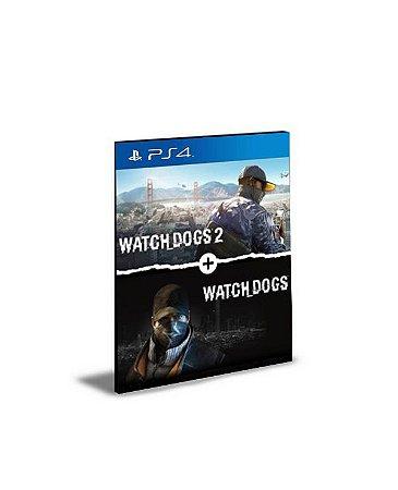 Watch Dogs 1 + Watch Dogs 2 Standard Editions Bundle PS4 e PS5 Psn Mídia Digital
