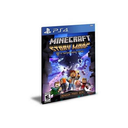 Minecraft Story Mode Season Pass PS4 PSN Mídia Digital