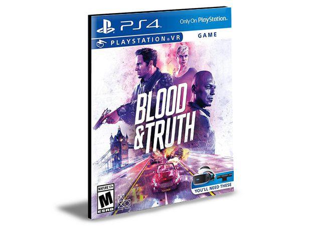 Blood e Truth Vr Ps4| Psn | Mídia Digital