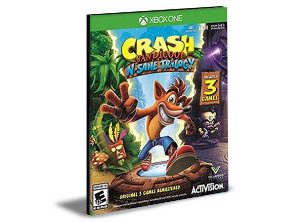 Crash Bandicoot N. Sane Trilogy  Xbox One e Xbox Series X|S Mídia Digital