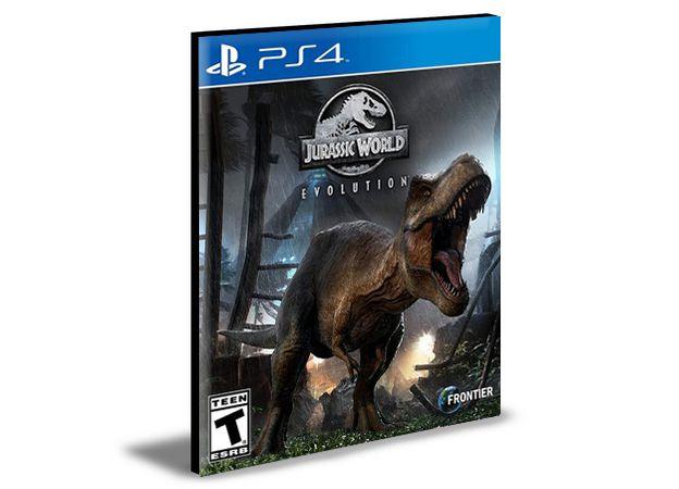 JURASSIC WORLD EVOLUTION  PORTUGUÊS  PS4 e PS5 PSN  MÍDIA DIGITAL