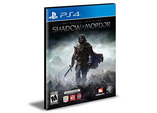 Middle Earth Shadow Of Mordor Português Ps4 e Ps5 PSN MÍDIA DIGITAL