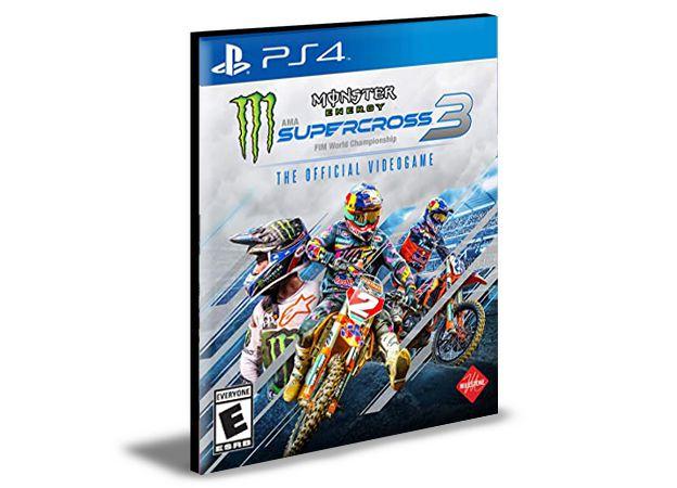 Monster Energy Supercross The Official Videogame 3 Ps4 e Ps5 Mídia Digital
