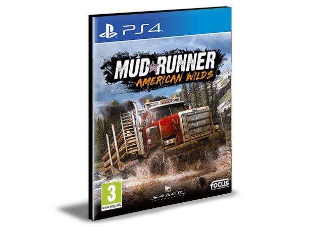 MudRunner  American Wilds Edition  Ps4 e Ps5 Psn  Português  Mídia Digital