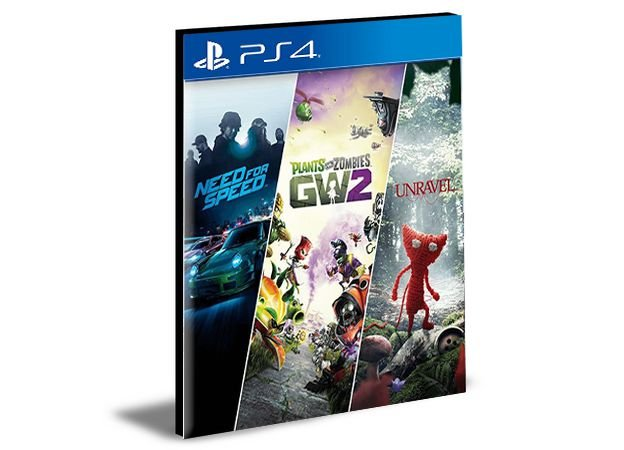 NEED FOR SPEED + PLANTS VS ZOMBIE 2 + UNRAVEL  PS4 e PS5 PSN  MÍDIA DIGITAL