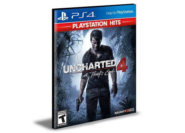 Uncharted 4: A Thief'S End  Ps4 e Ps5 Psn Mídia Digital