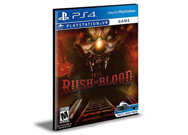 Until Dawn Rush Of Blood Ps4 e Ps5  Mídia Digital