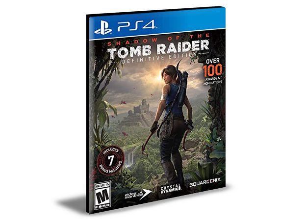 Shadow of the Tomb Raider Definitive Edition Português Ps4 e Ps5  MÍDIA DIGITAL