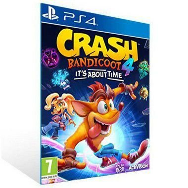 Crash Bandicoot 4 It's About Time | Ps4 | Psn | Mídia Digital