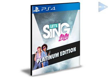 Let's Sing 2020 Platinum Edition | Ps4 | Psn | Mídia Digital
