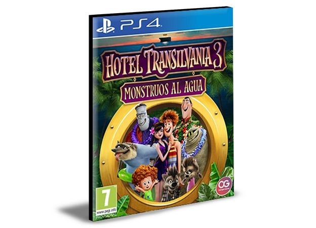 Hotel Transylvania 3: Monsters Overboard and Crayola Scoot Português Ps4 e Ps5 Mídia Digital