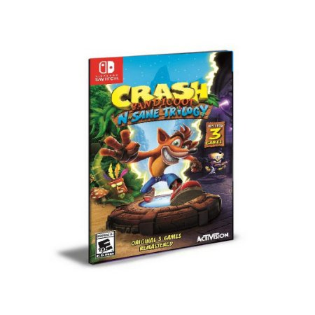 Crash Bandicoot N. Sane Trilogy NINTENDO SWITCH Mídia Digital
