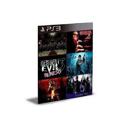 Resident Evil 1,2,3,4,5 E 6 Ps3  PSN  MÍDIA DIGITAL