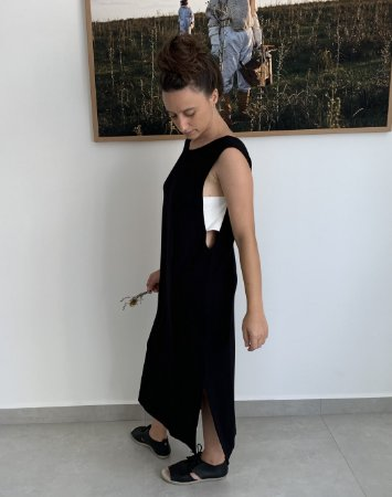 Vestido cava bicolor