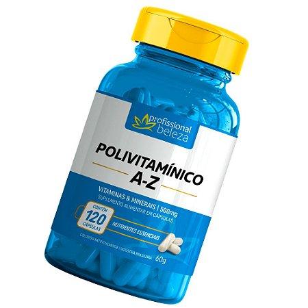 Polivitamínico 500mg A - Z Profissional Beleza 120 Cápsulas