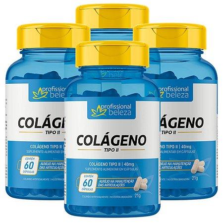04 Colágeno Tipo 2 Articulações Profissional Beleza 60 Cápsulas