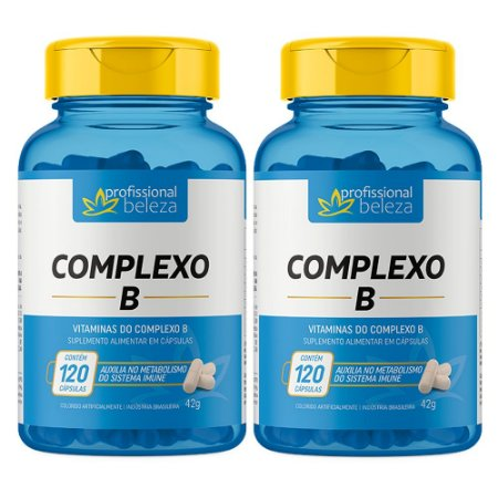 02 Complexo B Profissional Beleza 120 Cápsulas