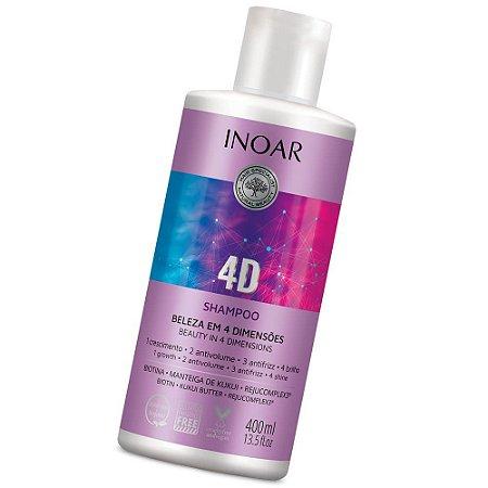 Inoar 4d Shampoo Anti Volume E Anti Frizz 400ml